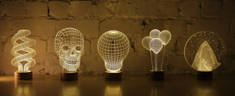 Lampe a poser skull led h23cm studio cheha normal