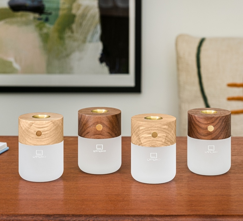 Smart diffuser lamp ash wood studio gingko lampe a poser table lamp  gingko g017ah  design signed nedgis 112395 product