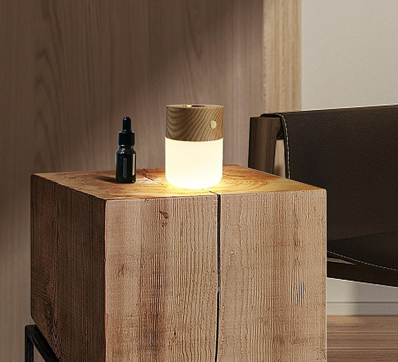Smart diffuser lamp walnut wood studio gingko lampe a poser table lamp  gingko g017wt  design signed nedgis 112390 product