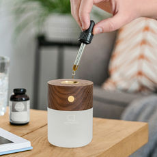 Smart diffuser lamp walnut wood studio gingko lampe a poser table lamp  gingko g017wt  design signed nedgis 112391 thumb