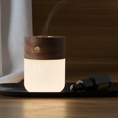 Smart diffuser lamp walnut wood studio gingko lampe a poser table lamp  gingko g017wt  design signed nedgis 112392 thumb