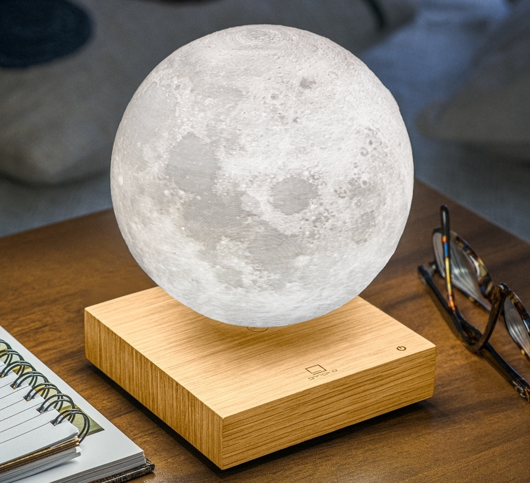 Smart moon lamp ash wood  studio gingko lampe a poser table lamp  gingko g019ah  design signed nedgis 112382 product