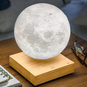 Lampe a poser smart moon lamp ash wood blanc 2700k a 5000ko14 cm h20cm gingko normal