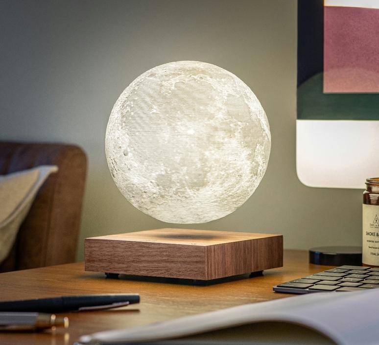 Smart moon lamp walnut wood  studio gingko lampe a poser table lamp  gingko g019wt  design signed nedgis 112378 product