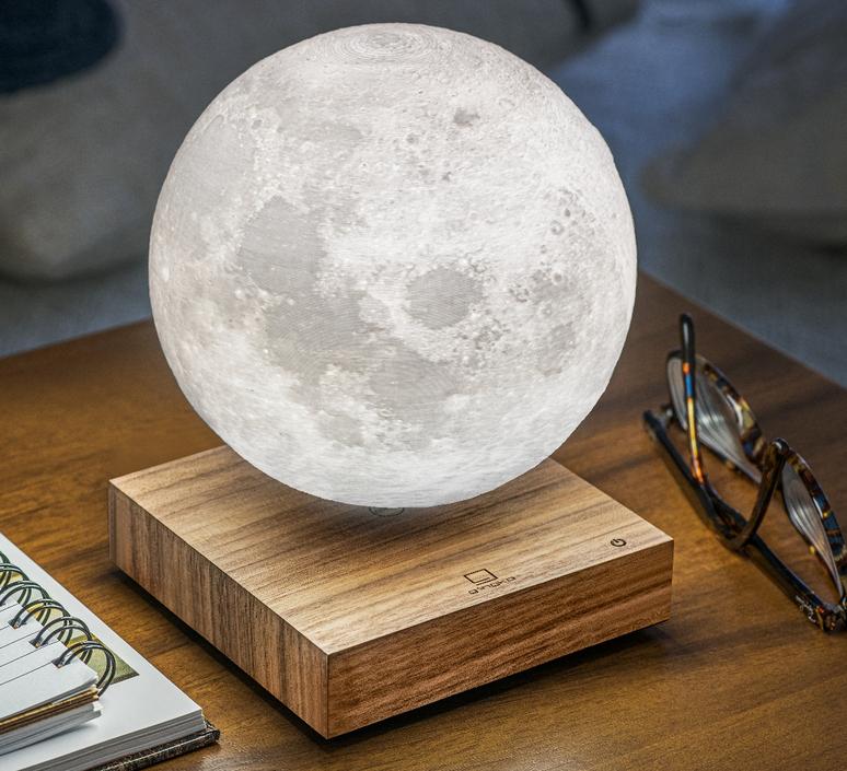Smart moon lamp walnut wood  studio gingko lampe a poser table lamp  gingko g019wt  design signed nedgis 112379 product