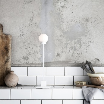 Lampe a poser snowball blanc h41cm l10cm northern lighting normal