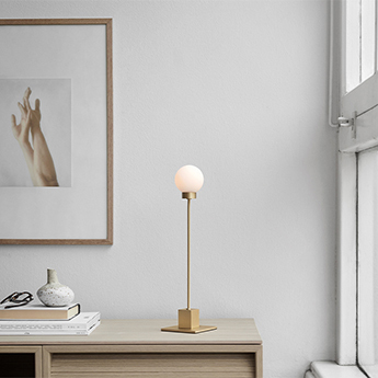 Lampe a poser snowball laiton l10cm h41cm northern normal