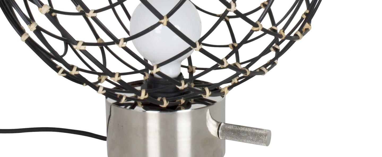 Lampe a poser sphere bambo l noir o40cm cm forestier normal
