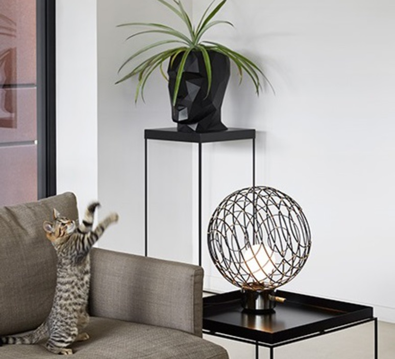 Sphere bambo l arik levy lampe a poser table lamp  forestier 20920  design signed 42788 product
