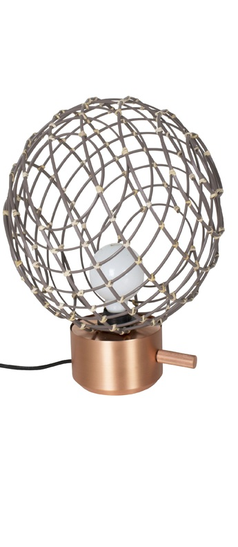 Lampe a poser sphere bambo m taupe o32cm cm forestier 20913 0 normal
