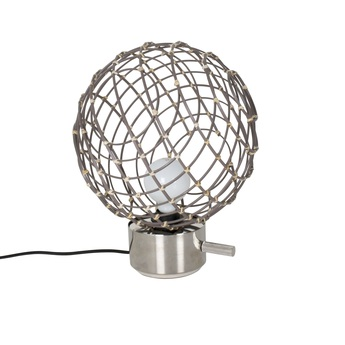 Lampe a poser sphere bambo m taupe o32cm cm forestier normal