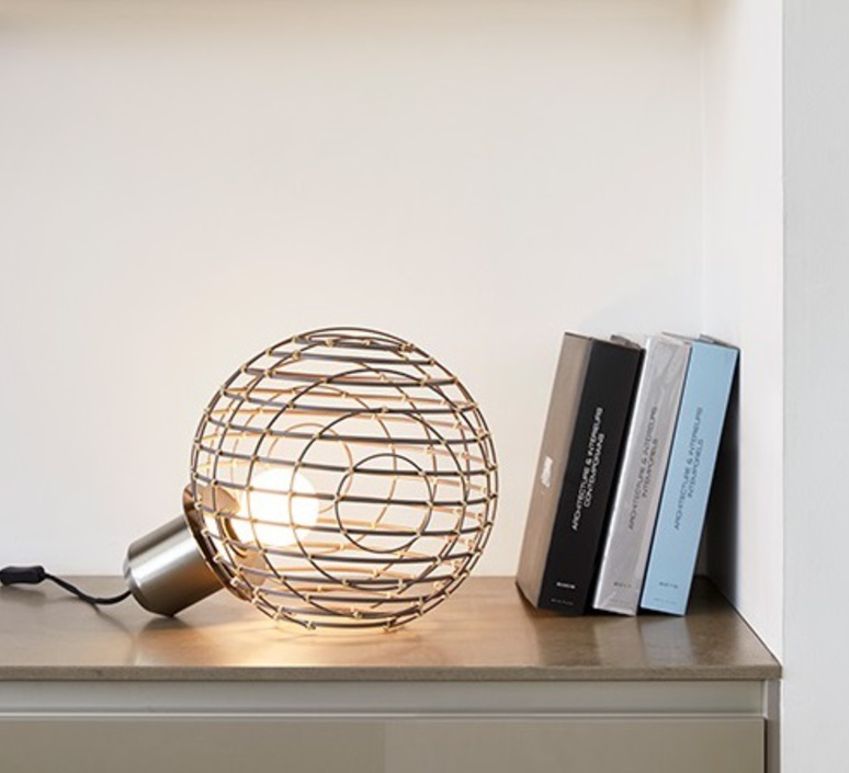 Sphere bamboo l arik levy lampe a poser table lamp  forestier 20928  design signed 42710 product