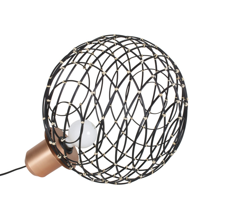 Sphere bamboo l arik levy lampe a poser table lamp  forestier 20924  design signed 42732 product