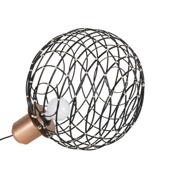 Lampe a poser sphere bamboo l noir o40cm cm forestier normal