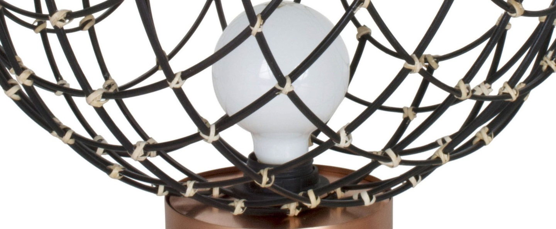 Lampe a poser sphere bamboo l noir o40cm hcm forestier normal