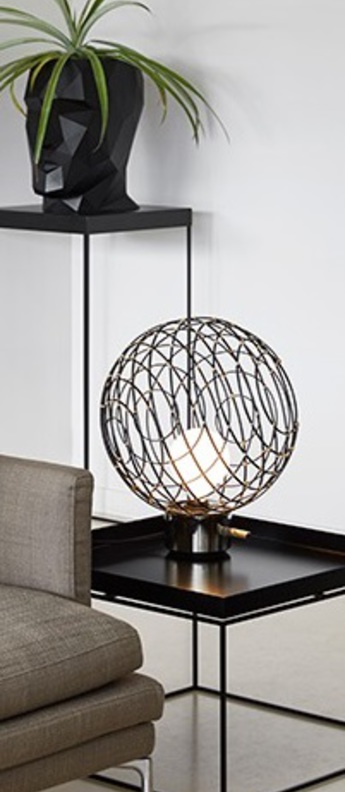 Lampe a poser sphere bamboo m noir o32cm cm forestier 20918 0 normal
