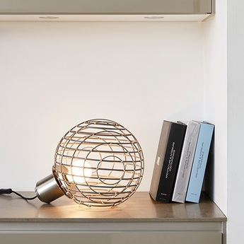 Lampe a poser sphere bamboo m noir o32cm cm forestier 20926 0 normal
