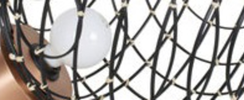 Lampe a poser sphere bamboo m noir o32cm cm forestier normal