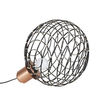 Lampe a poser sphere bamboo m noir o32cm cm forestier normal