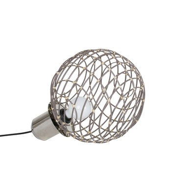 Lampe a poser sphere bamboo m taupe o32cm cm forestier 20925 0 normal