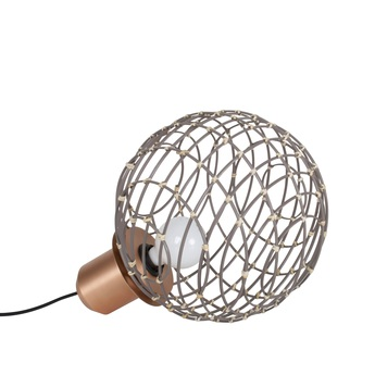 Lampe a poser sphere bamboo m taupe o32cm cm forestier normal