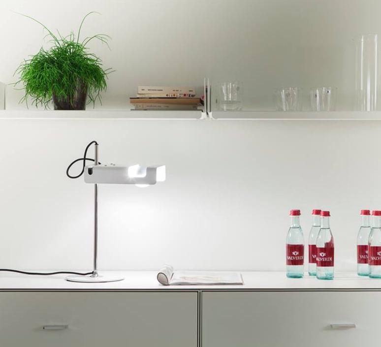 Spider joe colombo oluce 291 blanc luminaire lighting design signed 22430 product
