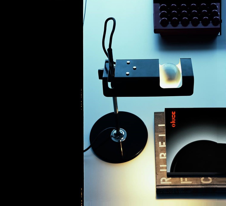 Spider joe colombo oluce 291 noir luminaire lighting design signed 22445 product