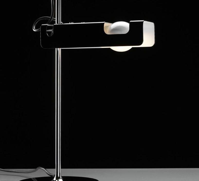 Spider joe colombo oluce 291 noir luminaire lighting design signed 22446 product