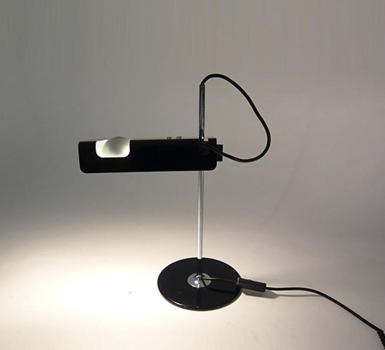 Spider joe colombo oluce 291 noir luminaire lighting design signed 22447 product