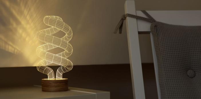 Lampe a poser spiral led h23cm studio cheha normal