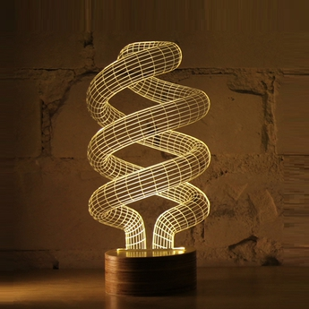 Lampe a poser spiral led h23cm studio cheha normal