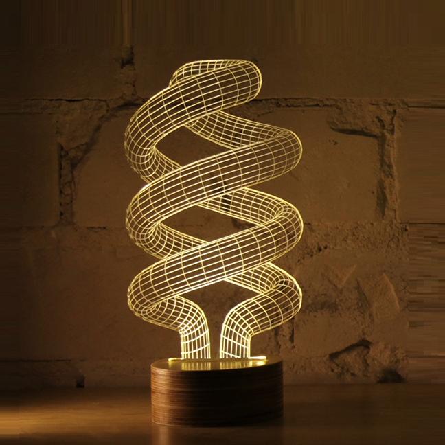 lampe poser spiral led h23cm studio cheha. Black Bedroom Furniture Sets. Home Design Ideas