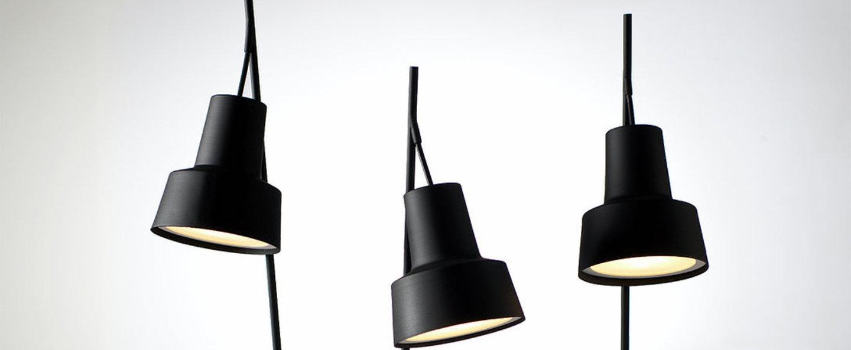 Lampe a poser spot table lamp noir led l20cm h70cm nir meiri normal