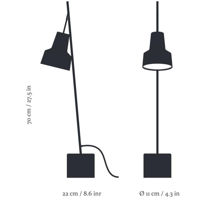 Spot table lamp  nir meiri lampe a poser table lamp  nir meiri spot tablelampmattblack  design signed 56808 product