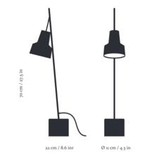 Spot table lamp  nir meiri lampe a poser table lamp  nir meiri spot tablelampmattblack  design signed 56808 thumb