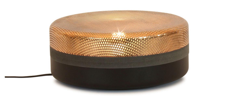 Lampe a poser steel drop big noir cuivre o32cm pulpo normal