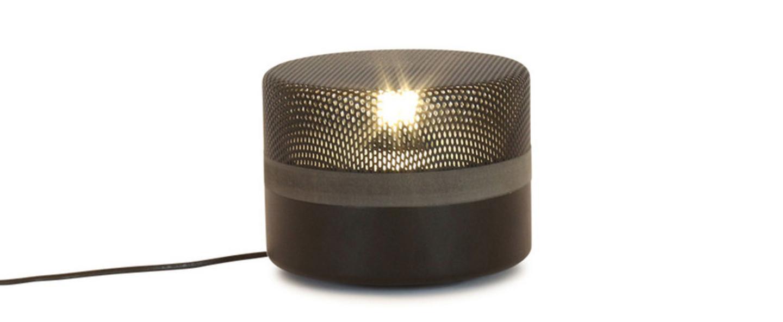 Lampe a poser steel drop small noir o20cm pulpo normal