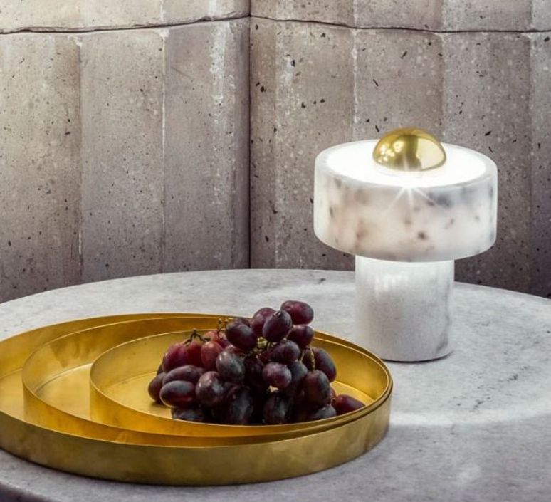 Stone  lampe a poser table lamp  tom dixon stt01eu  design signed 38392 product