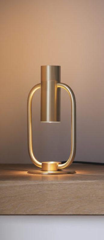 Lampe a poser storm laiton led l15 6cm h26 5cm cvl normal
