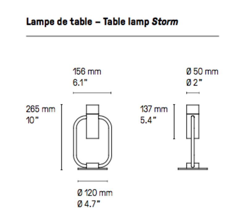 Storm  lampe a poser table lamp  cvl storm sb  design signed 53562 product