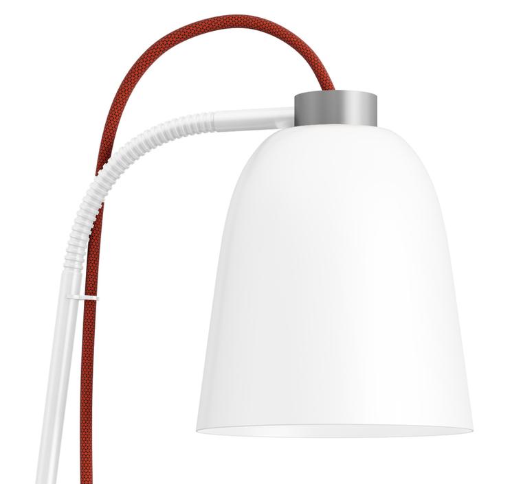 Table Lamp Summera White O13cm H49 8cm Shapes Nedgis Lighting
