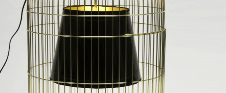 Lampe a poser sunset gm laiton noir h78cm o52cm ascete normal