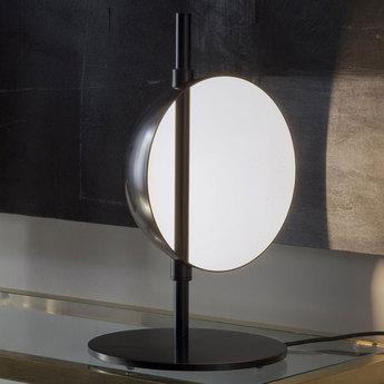 Lampe a poser superluna 297 noir led o28cm h43cm oluce normal