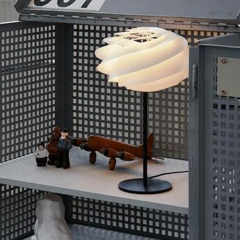 Lampe a poser swirl blanc o32cm h50cm le klint normal