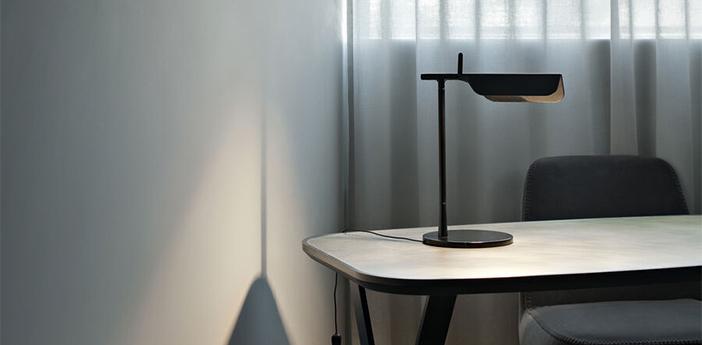 Lampe a poser tab noir led 2700k 347lm l27 3cm h32 7cm flos normal