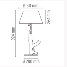 Table gun philippe starck lampe a poser table lamp  flos f2954000   design signed 35197 thumb