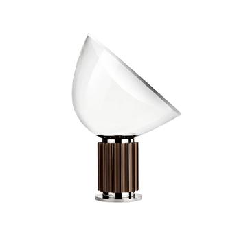 Lampe a poser taccia bronze anodise led 2700k 1400lm o49 5cm h64 5cm flos normal
