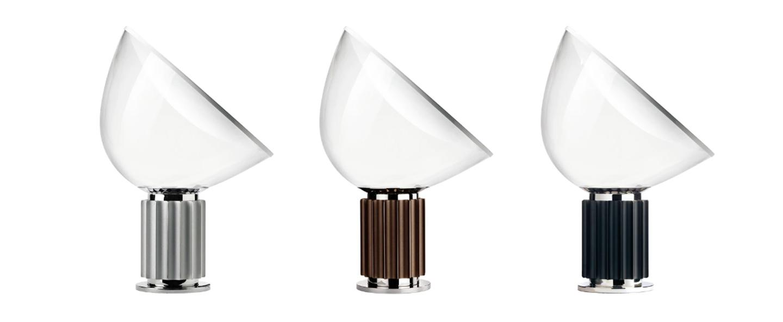 Lampe a poser taccia noir led 2700k 1400lm o49 5cm h64 5cm flos normal