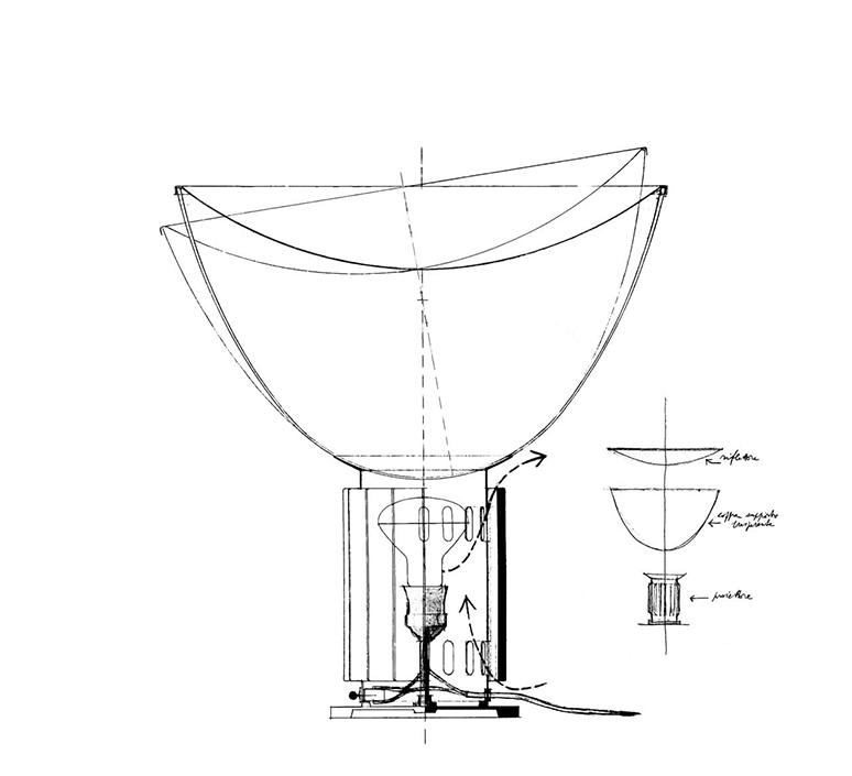 Taccia achille castiglioni lampe a poser table lamp  flos f6602030  design signed nedgis 126691 product