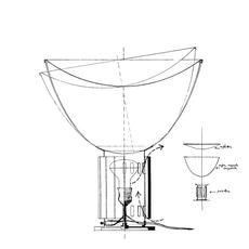 Taccia achille castiglioni lampe a poser table lamp  flos f6602030  design signed nedgis 126691 thumb